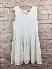 🔥 Guess Girl's Crochet White Sleeveless Lace Dress size 14
