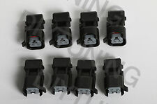 Set of 8 EV1 Jetronic to USCAR EV6 EV14 Fuel Injector Adapters Connectors