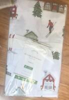 Pottery Barn Set 2 Ski Lodge Pillowcases White Standard Pair Christmas