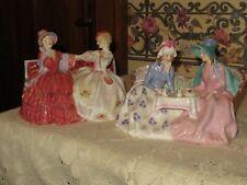 "Royal Doulton Figurines Set ""Afternoon Tea"" & ""The Gossips"" Hn1747 & Hn2025 Eng"