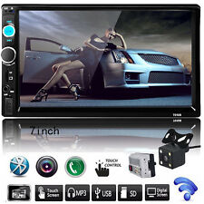 Double 2DIN In Dash Car DVD Player Bluetooth Auto Stereo Radio USB