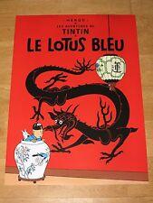 TINTIN POSTER EXTRA GROSS - LE LOTUS BLEU / BLAUE LOTOS 93 x 67 cm TIM & STRUPPI