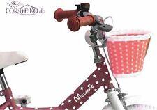 SET Wunschname + 20 Sterne Fahrradaufkleber - Kinderfahrrad Bike Folie Sticker