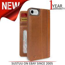 Twelve South Journal iPhone 7 Cognac Leather Wallet Folio Case & Display Stand