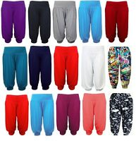 Femmes Ultimate Basic Noir Long Jersey Harem Pantalon Taille 8-26