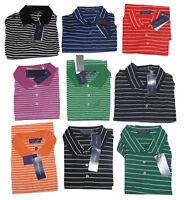 $295 Ralph Lauren Purple Label Italy Mens Striped Button Short Sleeve Polo Shirt