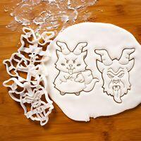Devil shaped Cookie Cutters// 2 in set each has cookie recipe