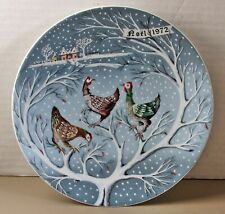 Haviland Limoges 12 days of Christmas 3 French Hens 1972 Plate