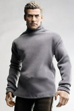 kc0197 Grey Polo Neck Long Sleeve Sweater for Homme FR Ken Color Infusion