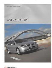 VAUXHALL ASTRA  COUPE PREVIEW SALES BROCHURE NOVEMBER 1999 FOR 2000 MODEL YEAR