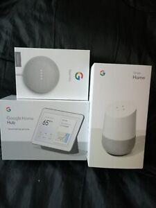 Google Nest Hub + Google Home + Google Nest Mini(2nd Gen) Bundle - NEW