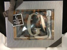 Mud Pie Glass Cheese Tray with Spreader - Monogram Initial G - #261107 NIB