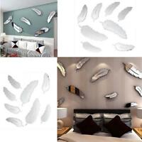 Wall Decals Feather Pattern Vinyl Wall Stickers Removable Living Room Decor AL