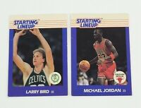 1988 Michael Jordan Card - Kenner Starting Lineup #23 LARRY BIRD LOT OF 2 bulls