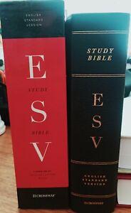 ESV Large-Print Study Bible--Genuine Leather, Black, 9781433544316