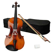 New 15 Inch Brown Basswood School Student Acoustic Viola with Case Rosin Bow