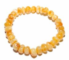 Genuine Baltic Amber Beads Adult Bracelet Butter Stretch 6 g Polished