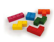 Kikkerland 4326 PUZZLE BLOCKS BLOK CRAYONS Set of 6 Different Colors non-toxic