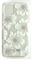 kate spade Clear Slim Case for iPhone 11 Pro Max, With Stones/Hollyhock Floral