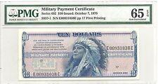 MPC 692 $10 Ten Dollar PMG Gem 65 EPQ