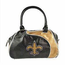 New Orleans Saints Women Per-fect Bowler Bag Purse NFL Authentic by Little Earth
