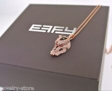 Effy panther necklace with emerald eyes & diamonds 14kt rose gold, 4.3gm