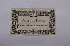 ✒ EX LIBRIS Joseph de Hueber (mort en 1817) directeur des postes impériales