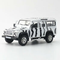 1:36 Land Rover Defender SUV Safari Die Cast Modellauto Spielzeug Sammlung Weiß