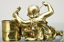 Exciting Cast Brass sculptor of Frighten Child Crying