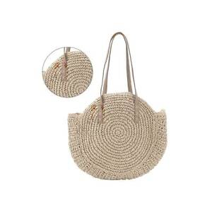 Women Wicker Handbag Totes Beach Straw Woven Summer Holiday Rattan Shoulder Bag