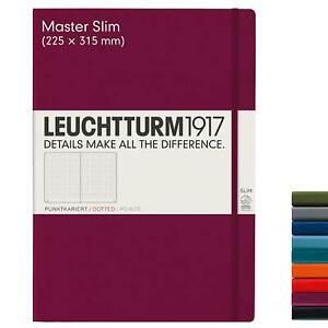 Notizbuch A4 Leuchtturm 1917 slim Kladde in blanko dotted kariert liniert