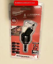 NIP one Milwaukee 6Pc 30° Knuckle Impact Pivoting Bit Holder Driver 48-32-2300