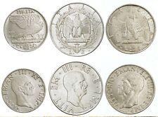ITALIA Lotto 3 monete da 50 Centesimi 1 2 Lire 1939 XVIII Magnetiche
