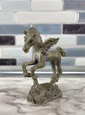 Vintage Pewter Pegasus Fantasy Figurine 1345 Mythical Magical Flying Horse