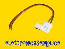 connettore striscia led 3528 2 pin 8mm con cablaggio a saldare (25SP)
