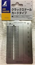 SHINWA Crack Scale Card Inspection Gauge Metric Stainless Steel 58699 New Japan