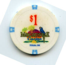 1.00 Casino Chip from the River Spirit Casino Tulsa Oklahoma Margaritaville