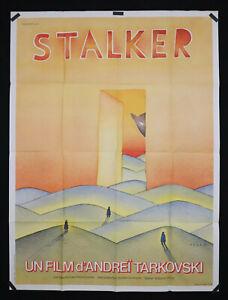 STALKER - Andrei Tarkovski - 1979 - Original movie poster - 47 x 63 in - Folon