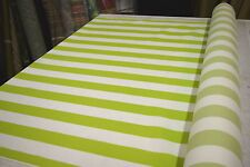 MILL CREEK APPLE GREEN BLOC  STRIPE INDOOR OUTDOOR UPHOLSTERY  FABRIC DWR