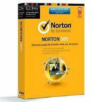 Norton Internet Security Antivirus NIS N360 2017 2018 1Year 1/3/5 PC's