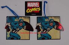 Official Marvel Comics Foil Trim Gift Tags Set of 2 Classic Captain America