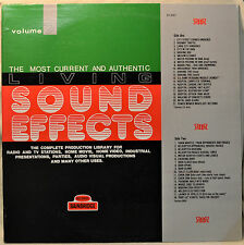 Living Sound Effects Volume 7 LP Rain Heliicopter Chain Saw Hospital City Toilet
