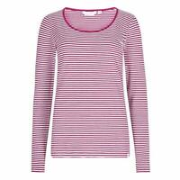 Lazy Jacks | Long Sleeve | Pink/White | Casual Thin Stripe Top |