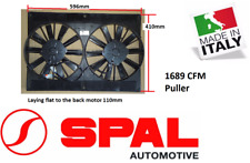 """Spal 11"""" Dual Thermo Fan Shroud Straight Blade 12v Puller 2870 m3/h 1689CFM 13.6"""