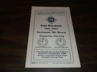 APRIL 1936 ERIE RAILROAD FORM 15 ROCHESTER MT. MORRIS  DANSVILLE TIMETABLE