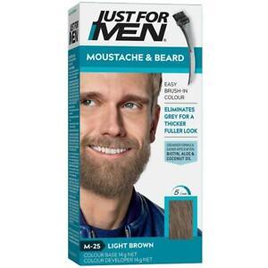 New Just For Men Moustache Beard Dye Colour Light Brown Facial Hair Colouring