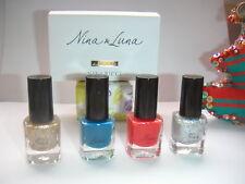 JOLIES miniatures NINA & LUNA de NINA RICCI pleines + boite NEUV VERNIS A ONGLES