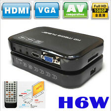 Full HD 1080p H6w Media Video Center Portable Multimedia Player HDMI USB SD/MMC