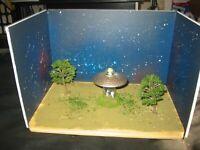 UFO Cow Abduction Diorama