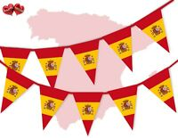 Spain Full Flag Bunting Banner 15 flags Spanish National by PARTY DECOR